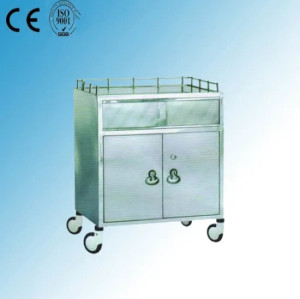 Stainless Steel Hospital Medical Anaesthetic Trolley/ Cart (Q-31)