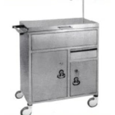 Stainless Steel Hospital Medical Anaesthetic Trolley/ Cart (Q-34)