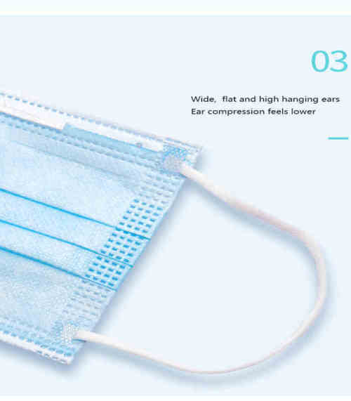 Hot New Products Medical Disposable 3 Ply Earloop Protective Face Mask