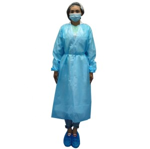 Hot sales isolation gown sms reinforced surgical gowns level 3 or 4