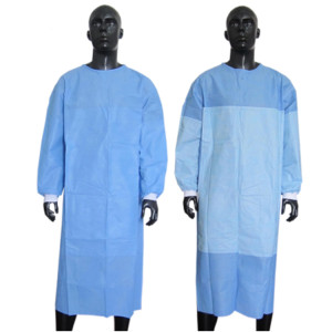 Disposable non woven surgical gowns protective clothing isolation gown