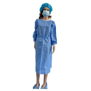 Tri-layer surgical gown isolation and protective gowns wholesale