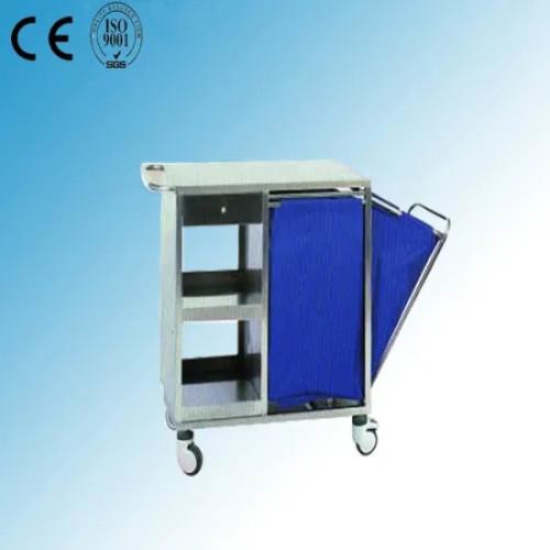 Stainless Steel Hospital Medical Nursing Trolley (Q-35)