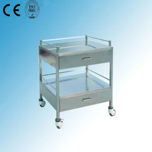 Stainless Steel Hospital Medical Instrument Trolley (Q-23)