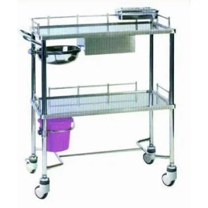 Stainless Steel Hospital Treatment Dressing Trolley