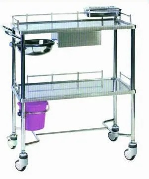 Stainless Steel Hospital Infusion Trolley