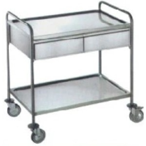 Stainless Steel Medicine Trolley, Treatment Trolley