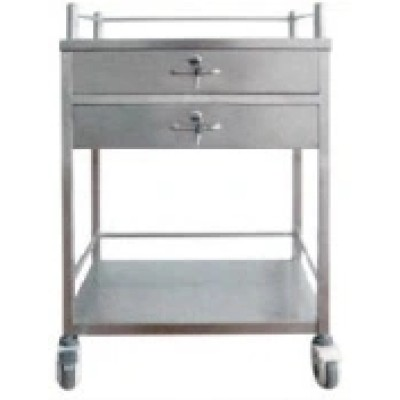 Stainless Steel Hospital Medical Medication Trolley