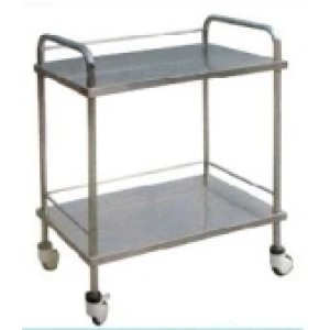 Stainless Steel 2-Layers Hospital Dressing Cart