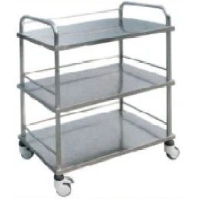 Stainless Steel 3 Layers Hospital Instrument Trolley