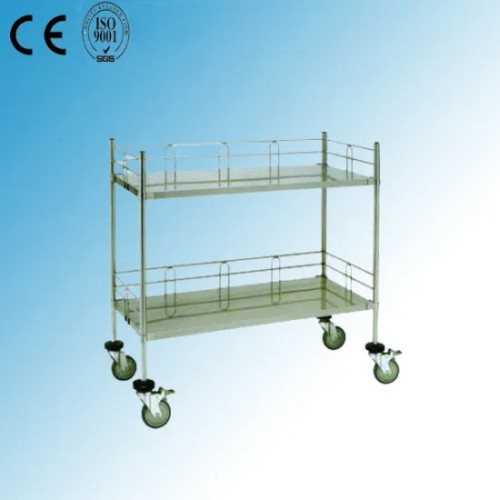 Stainless Steel Hospital Medical Dressing Trolley (Q-14)
