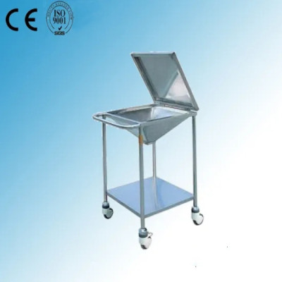 Stainless Steel Hospital Medical Wound Cleaning Trolley (Q-19)