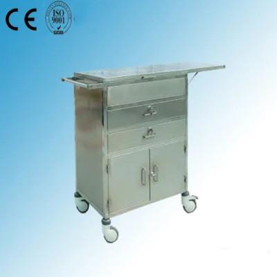 Stainless Steel Hospital Medical Resuscitation Cart (Q-27)