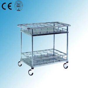 Stainless Steel Hospital Medical Bottle Transfer Cart (Q-29)