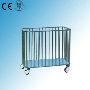Stainless Steel Hospital Medical Laundry Trolley (Q-32)
