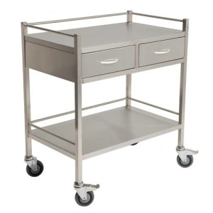 Stainless Steel Hospital Medical Instrument Cart (XH-MD-3)