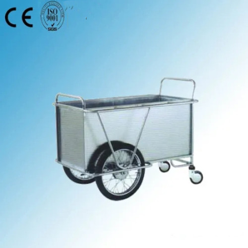 Stainless Steel Hospital Medical Trolley (Q-36)