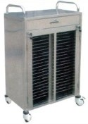 Stainless Steel Hospital Medical Patient Record Trolley (Q-12)