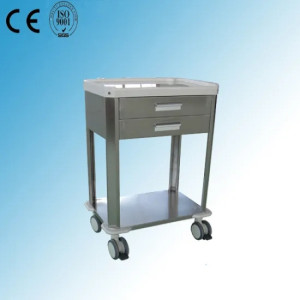 Stainless Steel Mobile Hospital Treatment Cart/Trolley (P-27)
