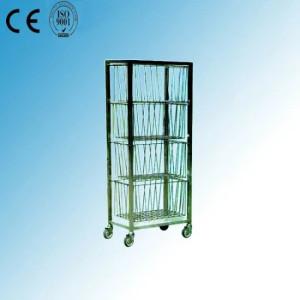 Stainless Steel Hospital Medical Basket Trolley (R-1)