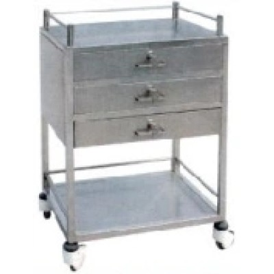 Stainless Steel Medicine Trolley with Ce, FDA Certificate