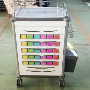New Design Hospital Aluminum Medicine Trolley