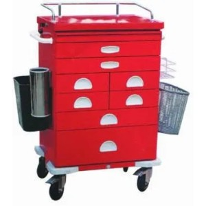 High Quality Steel Painted Medicine Trolley (N-10)