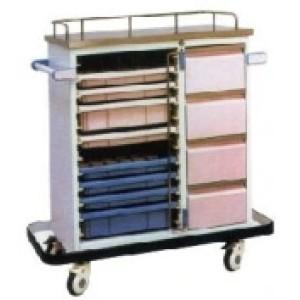 Steel Painted Hospital Medicine Drug Transfer Trolley (P-6)