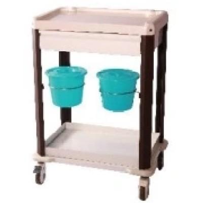 Hospital Medical Treatment Trolley with Buckets (N-9)