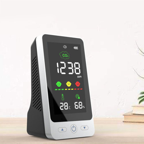 CO2 meter Air quality detector co2 detector history save with 4.3inch display carbon dioxide sensor