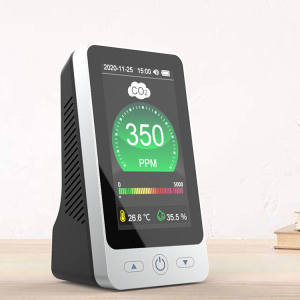 Air Quality Monitor Intelligent CO2 Meter NDIR Sensor Carbon Dioxide Meter Gas Detector Temperature and Humidity Monitor