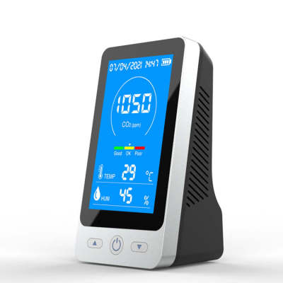 Desktop CO2 Monitor with Data Logging gas detector rechargeable CO2 meter Air Quality detector with co2 alarm function