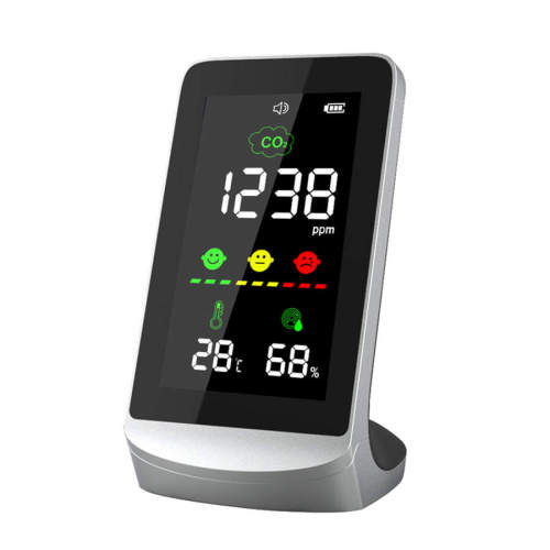 Air quality monitor co2 monitor carbon dioxide co2 meter with photo sensor, co2 detector greenhouse