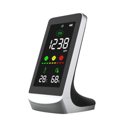 Indoor air quality monitor desktop carbon dioxide gas co2 meter detector, temperature humid co2 monitor