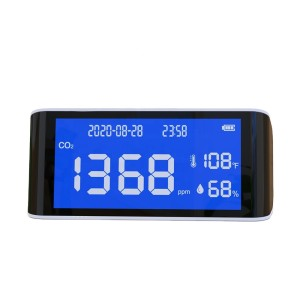 Factory price Air Quality Monitor CO2 detector co2 meter air meter temperature humidity carbon dioxide sensor for home use