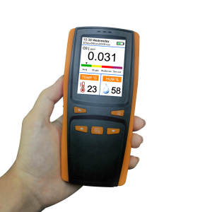 Portable ozone O3 meter temperature humidity meter air quality monitor Ozone analyzer gas detector for the house