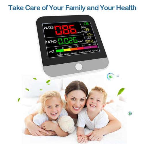 Portable PM2.5 TVOC HCHO detector Air Quality Monitor Formaldehyde Temperature Humidity Diagnostic meter Home car gas analyzer