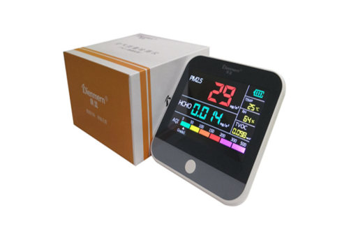 Formaldehyde detector Air Quality Monitor PM2.5 TVOC analyzer with TEMP/HUM Diagnostic meter for home car gas detect USB charge