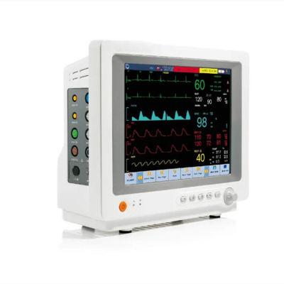 Discount 12.1 LED Multi-Parameter ICU/Ccu/or Bedside Patient Monitor Machine