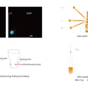 Fully Auto Blood Cbc Test 5 Part Hematology Analyzer for Lab Use