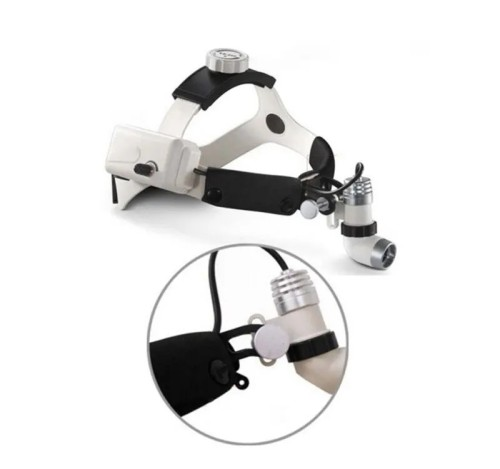 Brightness Adjustable Surgical Wireless LED Headlight with Two Batteries