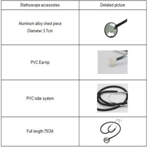 Single Head Stethoscope with Anti-Chill Ring for Child Use