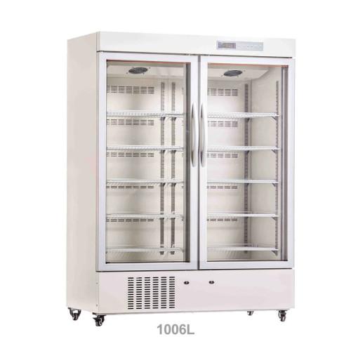 Large Digital Display 656L/1006L 2-8 Degree Pharmacy Refrigerator with Locking Door