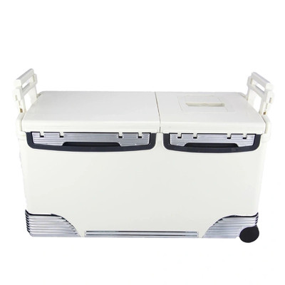 31L Medical Laboratory Vaccine Storage Shipping Box Transport Cooler with Wheel