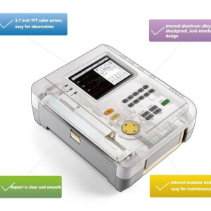 5.7 Inch TFT Color Screen 12 Channel ECG Machine for Sale