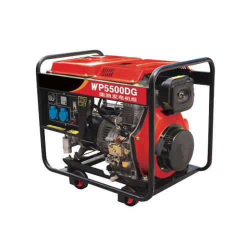 Silent / open type small power portable diesel generator