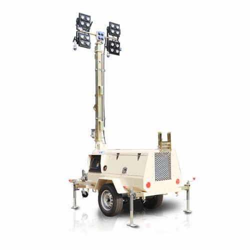 4TN4000 Trailer Mounted Manual Mast Mobile Light Tower