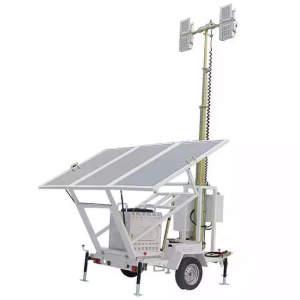 4VS Solar Power Trailer Mounted LED Mobile lighting tower