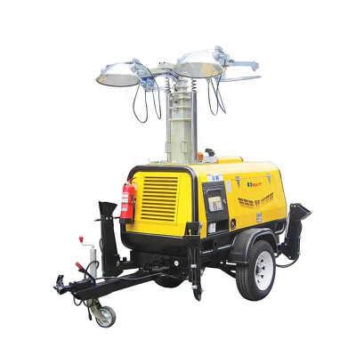 4HVP4000 portable mobile generation powered mobile light tower for outdoor night lighting