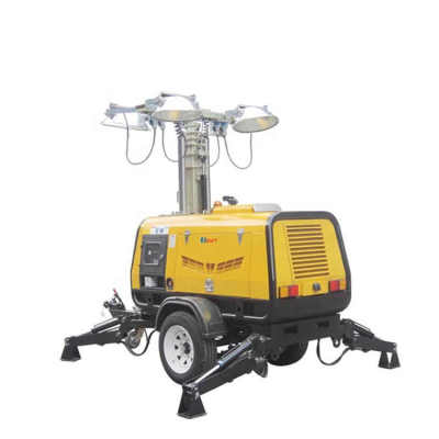 4VA4000 mobile trailer mounted metal halide light tower powered by kubota diesel engine